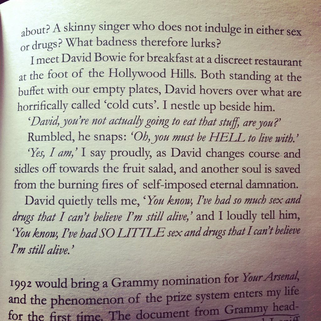 That time Morrissey and David Bowie went out to eat. Moz gave Bowie grief for eating meat. https://t.co/fYKhNKrAfs