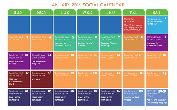 Simply Measured On Twitter Is Your Socialmedia Content Calendar