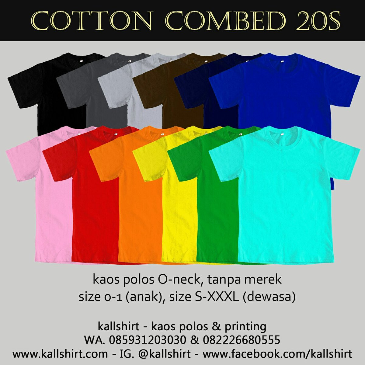 Ani W Suhartono Ws Twitter Size M Kaos Polos Cotton Combed 20s Hitam Tanpa Merek Hanya Rp 26500 Lihat Gambar Klik Https Tokopediacom Kallshirt