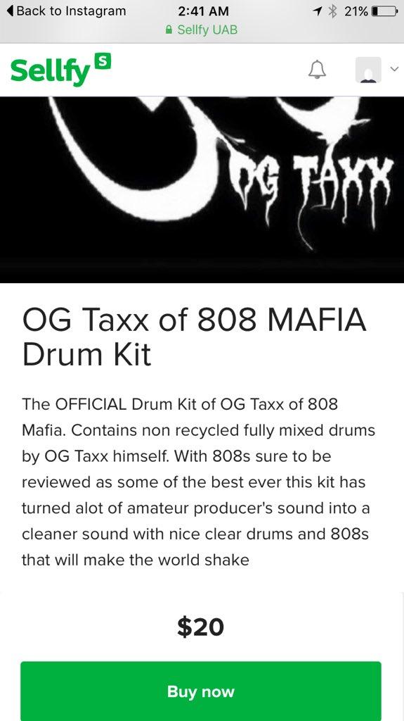 OG Taxx 808Mafia on Twitter: