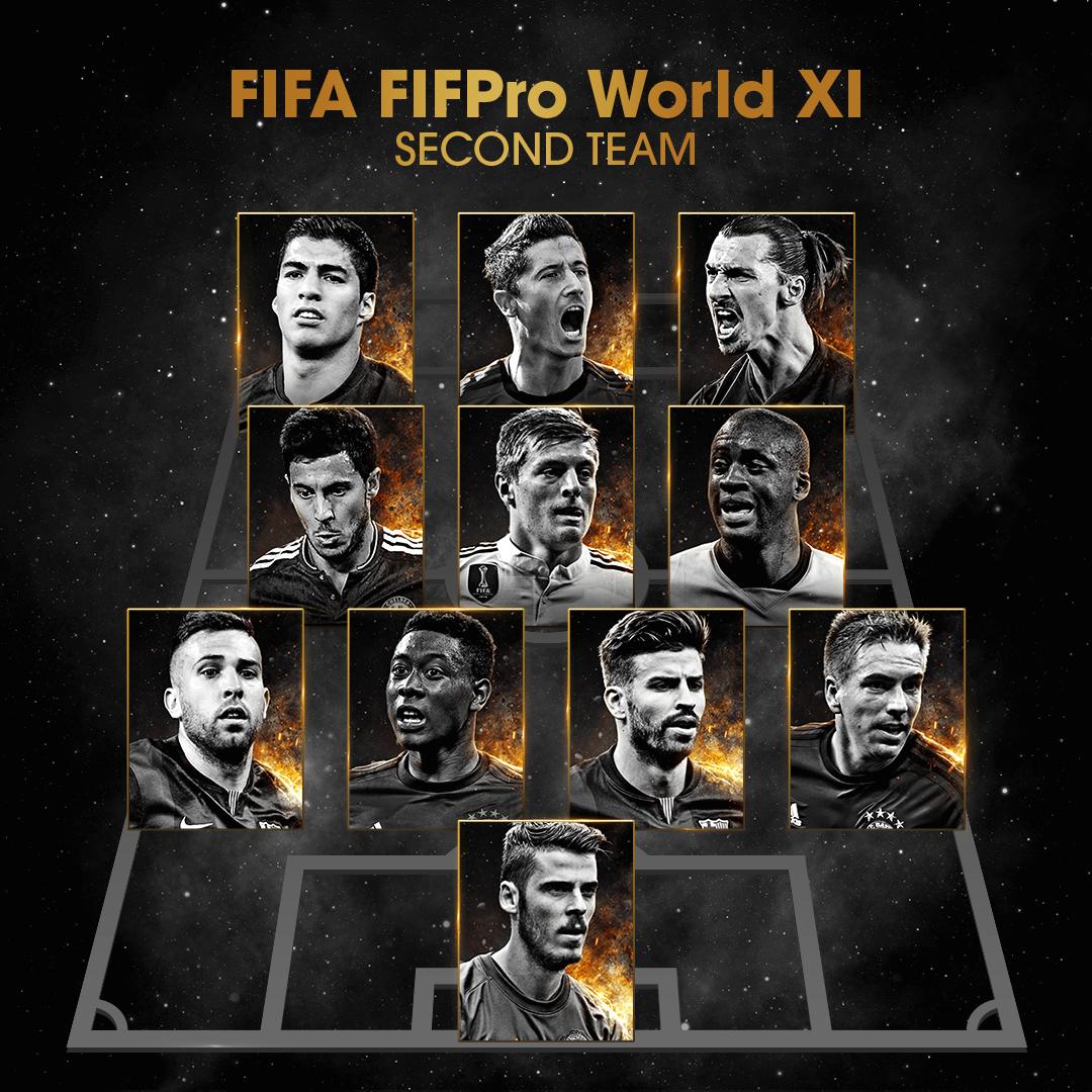 FIFA ikkinchi ramziy terma jamoani e'lon qildi.
