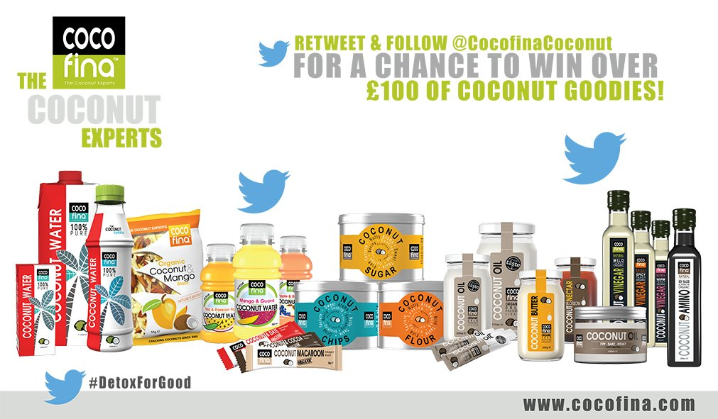 Would u like to be in for chance to win £100s worth of our supporters @CocofinaCoconut goodies? RT & follow them! https://t.co/AF533yl0e8
