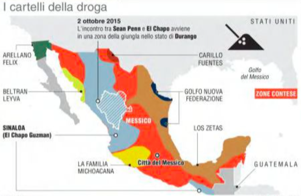 #DailyMap 12/01 Oltre #ElChapo. Quanti sono e dove sono i cartelli della droga in #Messico pic via @unitaonline https://t.co/LOVxrOYyVR