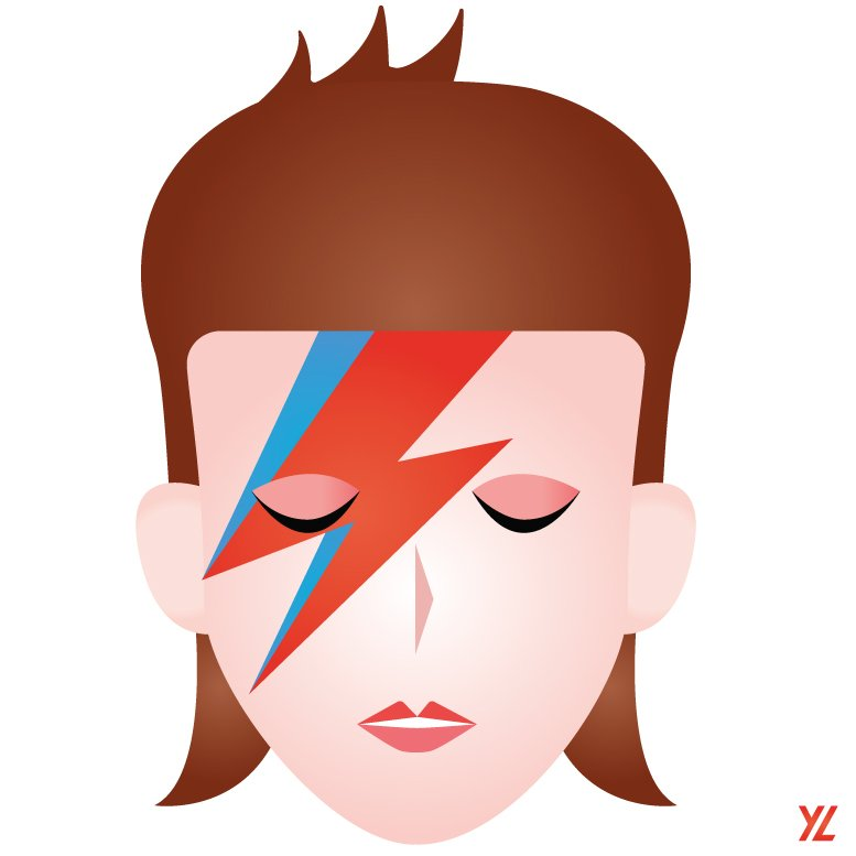 The #DavidBowie tribute as an emoji; from me to you, beloved Starman. Thank you for the music & inspiration... https://t.co/9REfY7Qm3A
