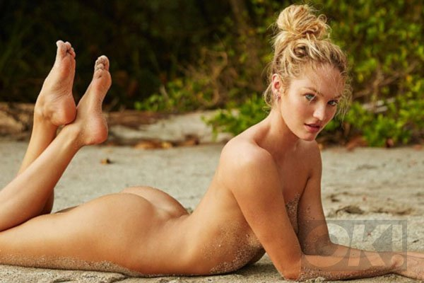 Model naked and funny