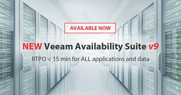 Veam Availability Suite v9 is now generally available and ready for download! https://t.co/DfjyZmRiS6 #veeam https://t.co/Dp1ZmTvDOZ