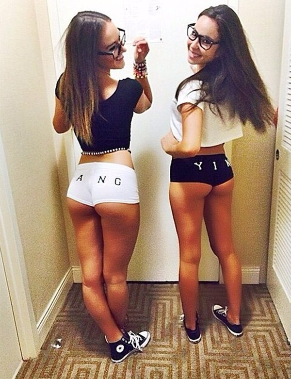 Real girls in short shorts