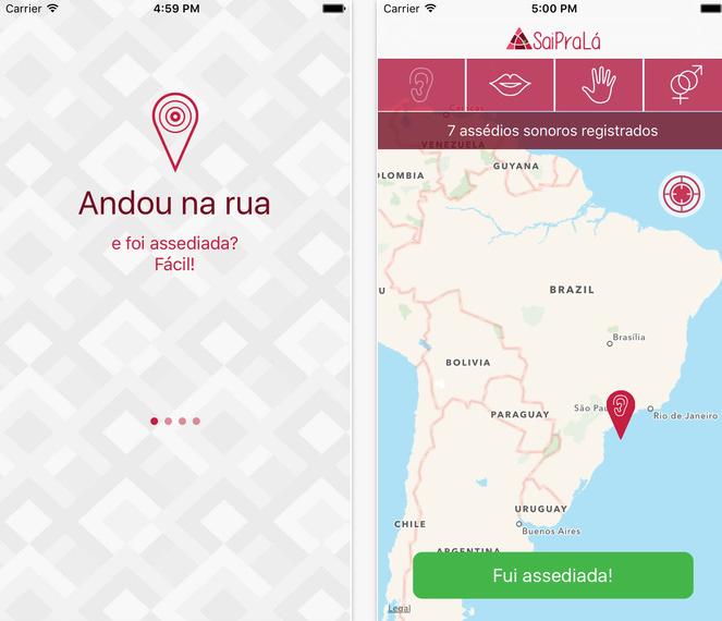 App Sai Pra Lá permite que as mulheres registrem casos de assédio e abuso https://t.co/Gdt5mge7FZ https://t.co/KyfobGd55B