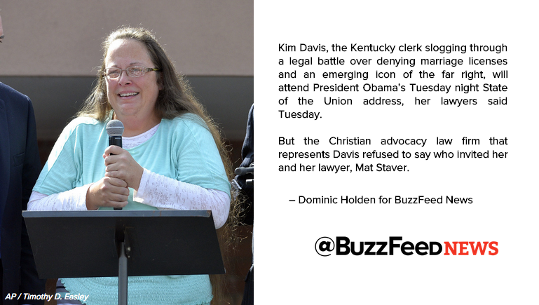 Who Invited Kim Davis To The State Of The Union? https://t.co/YC3zndiRqY https://t.co/3wmerVIxf8