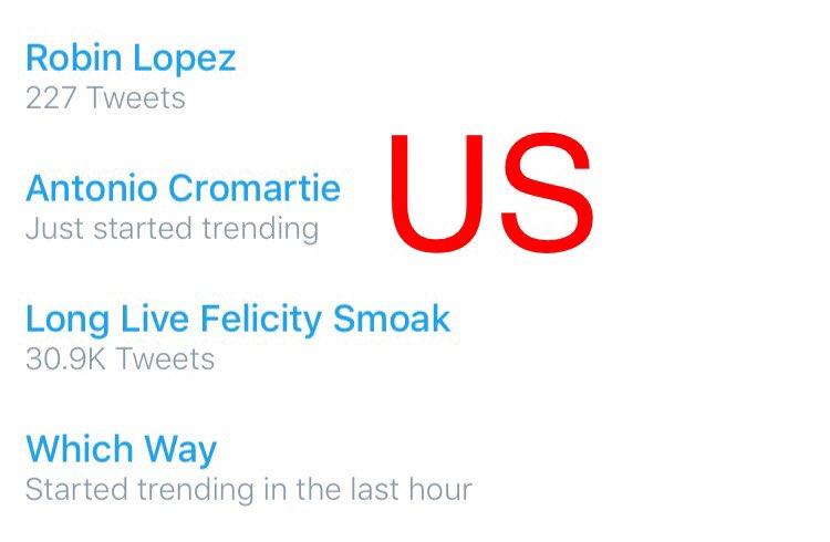 """""""Long Live Felicity Smoak"""" - is trending in the US, WW, Brazil and Turkey. ❤️ @ARROWwriters @CW_Arrow https://t.co/IYSPMihAqo"""