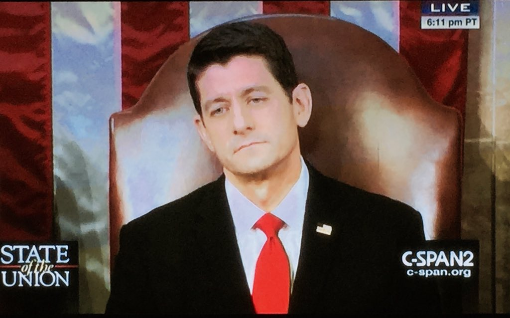 The Internet Is Amused By Paul Ryan's Poker Face At The State Of The Union