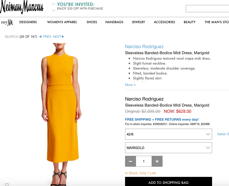 FOUND IT:  @FLOTUS in this @narcisostudio sheath. On sale, too. https://t.co/Ewe9wC82wh