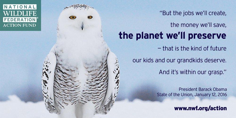 Thank you @POTUS. #Wildlife #SOTU https://t.co/hK4GkRG2oy
