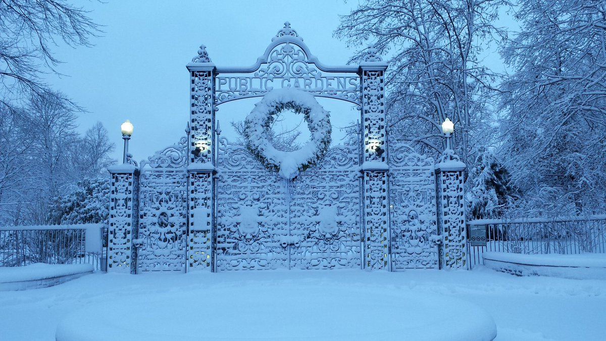 Beautiful photo of the Public Gardens gates in #halifax from @cportolesi #nsstorm https://t.co/mgyZpR3R56