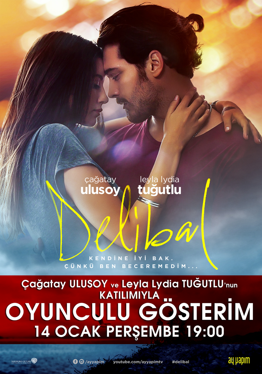 Delibal film gösterimi @cagatayulusoyy ve @leylalydia_  katılımıyla yarın 19:00 seansında Kentpark Prestige'de! https://t.co/oezfL9Ohek