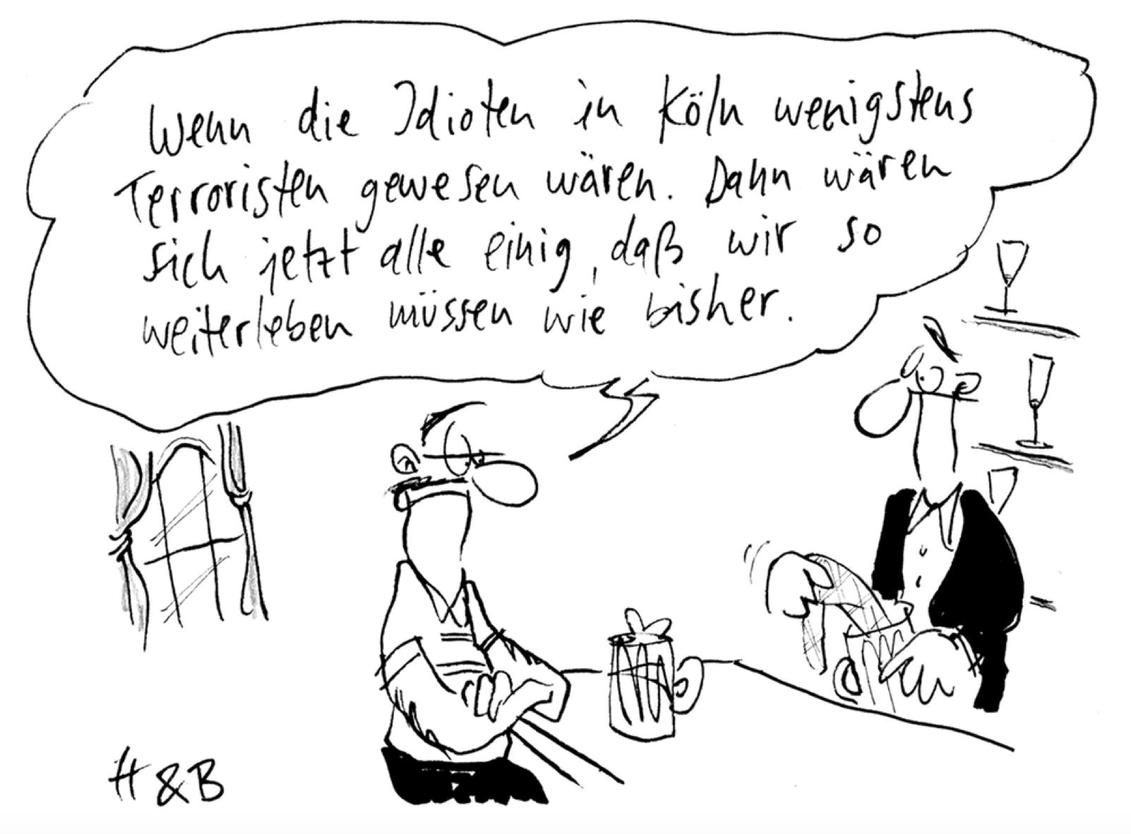 Bei Straftaten immer die Herkunft der Täter zu nennen, stigmatisiert Flüchtlinge. http://uebermedien.de/895/die-ueblichen-verdaechtigen/ ... #Koelnpic.twitter.com/4oQmnosMS9