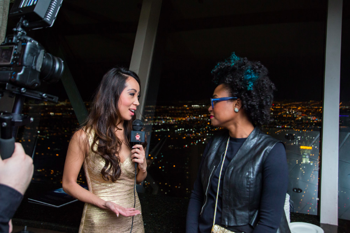 "Here is @LisaSongSutton interviewing fellow YEC member @RakiaReynolds for her new TV show ""Live with Lisa."" #CES2016 https://t.co/AABp3cNvXT"