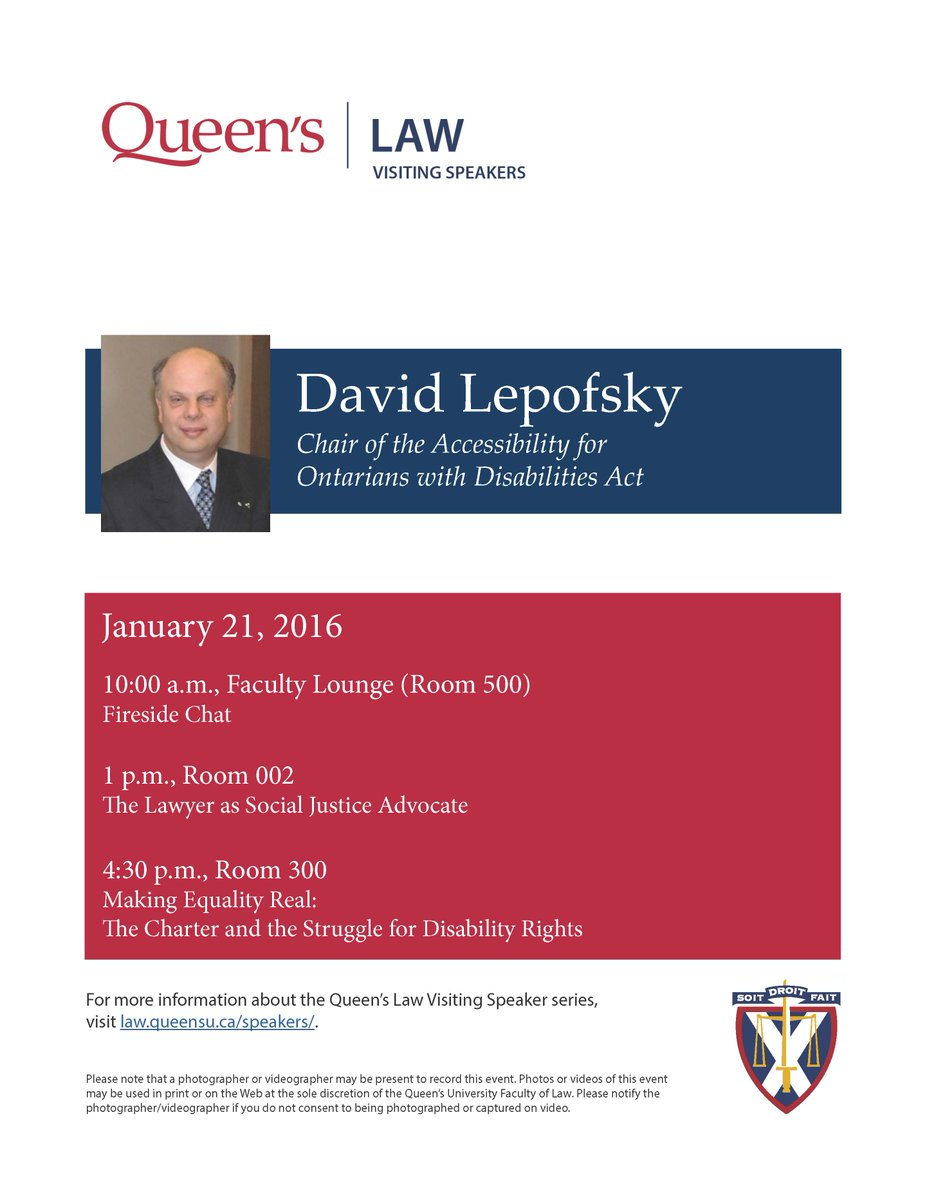 MT @QLaw_Research: Welcoming @DavidLepofsky  for 3 sessions at @QueensULaw...  #queenslaw https://t.co/9XMjdUSw4h
