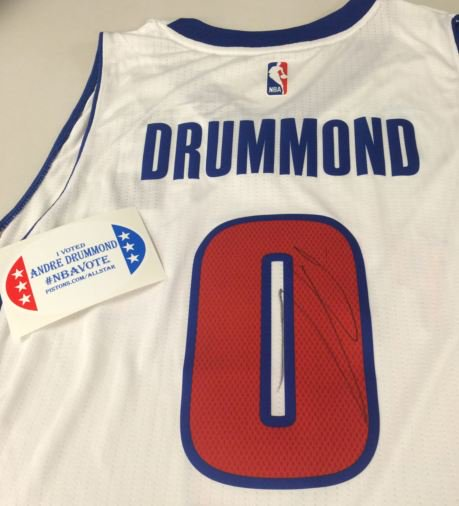 Interested in a signed Andre Drummond jersey? RT this post by 6 p.m. and we'll randomly select a winner! #NBAVote https://t.co/J3Qt10YjIn