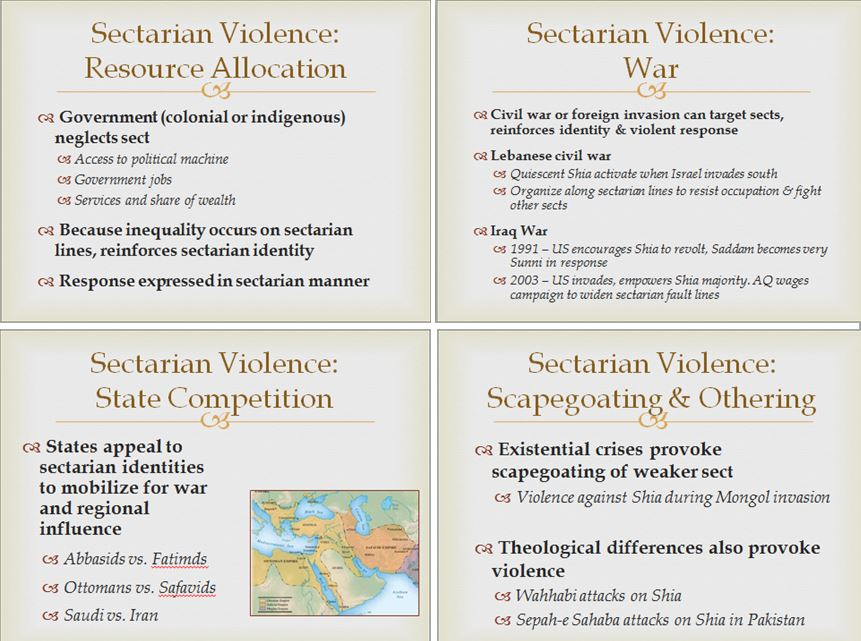 Want to know why sectarian violence really exists? I break it down in four easy slides. https://t.co/SpnhFwPnv6