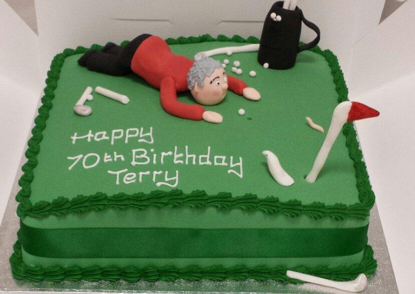 Carousel Sugarcraft on Twitter Comical golf birthday cake golf