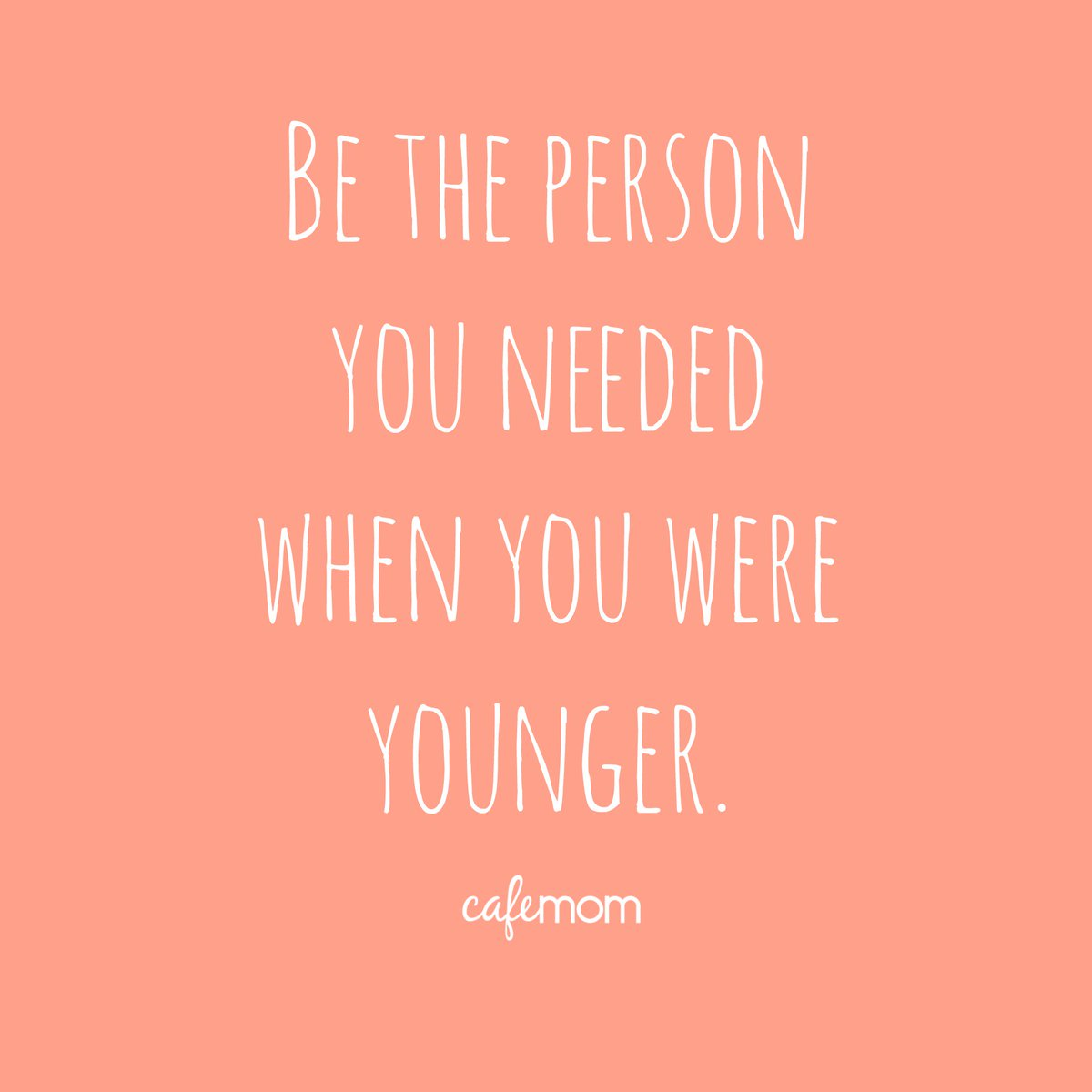 Be the person you needed when you were younger. #WednesdayWisdom https://t.co/q1paQvOJw8