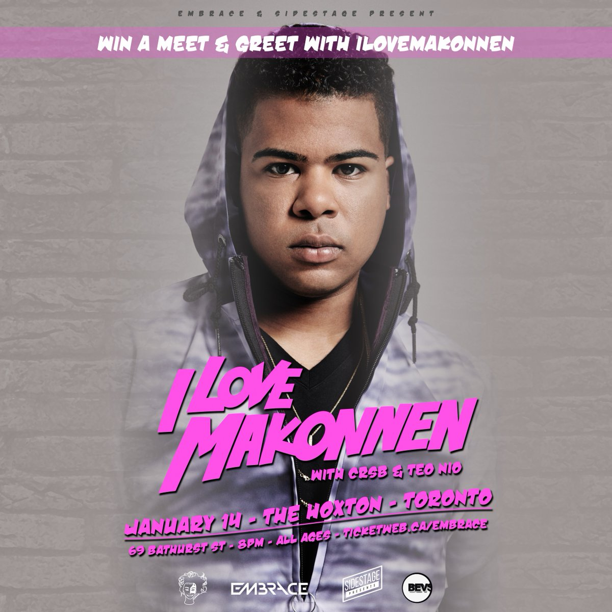CONTEST! Win a pair of tix and MEET & GREET with @iLoveMakonnen5D tomorrow at @the_hoxton! Retweet to be entered! https://t.co/D0IEcLaTXY