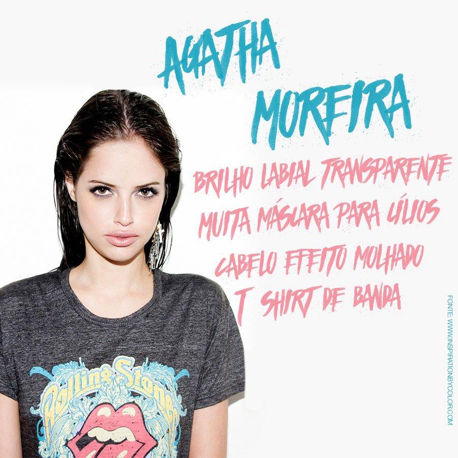 Agatha Moreira: visual e bocão de dar inveja *-* Bora se inspirar nessa #diva? <3 #OBoticarioCH https://t.co/ney8jNW1Id