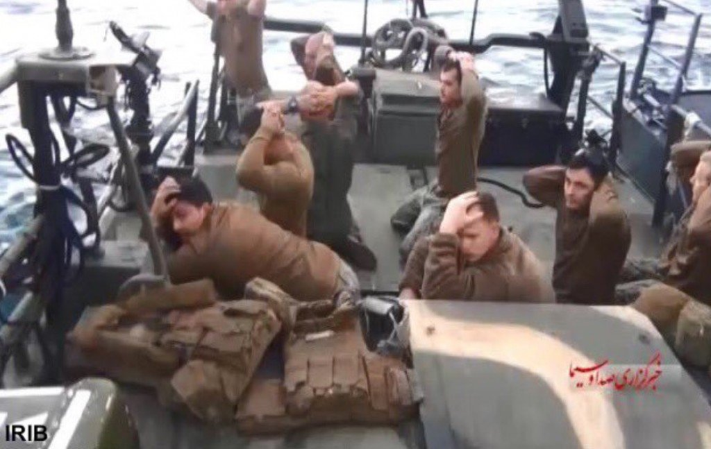Iranian video shows U.S. sailors kneeling in surrender pose