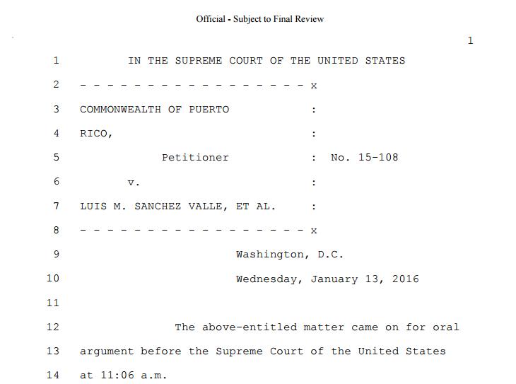 Transcripción de argumentos ante el Supremo federal en caso Puerto Rico v. Sánchez Valle https://t.co/TuwenF45A0 https://t.co/PoRoOvwsbU