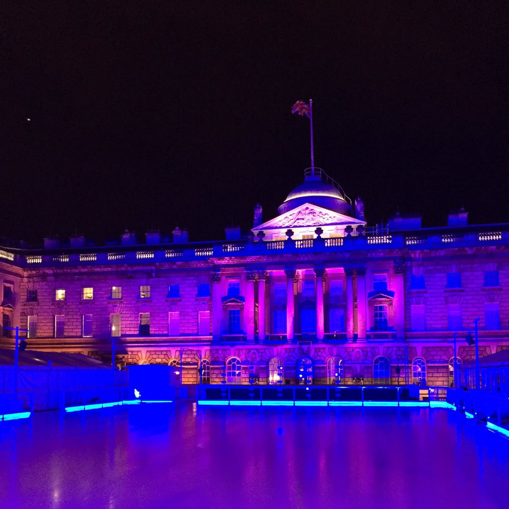 Such a great evening @SomersetHouse watching @lepatinlibre - who knew ice skating could be so percussive?! https://t.co/w30liVKHOO