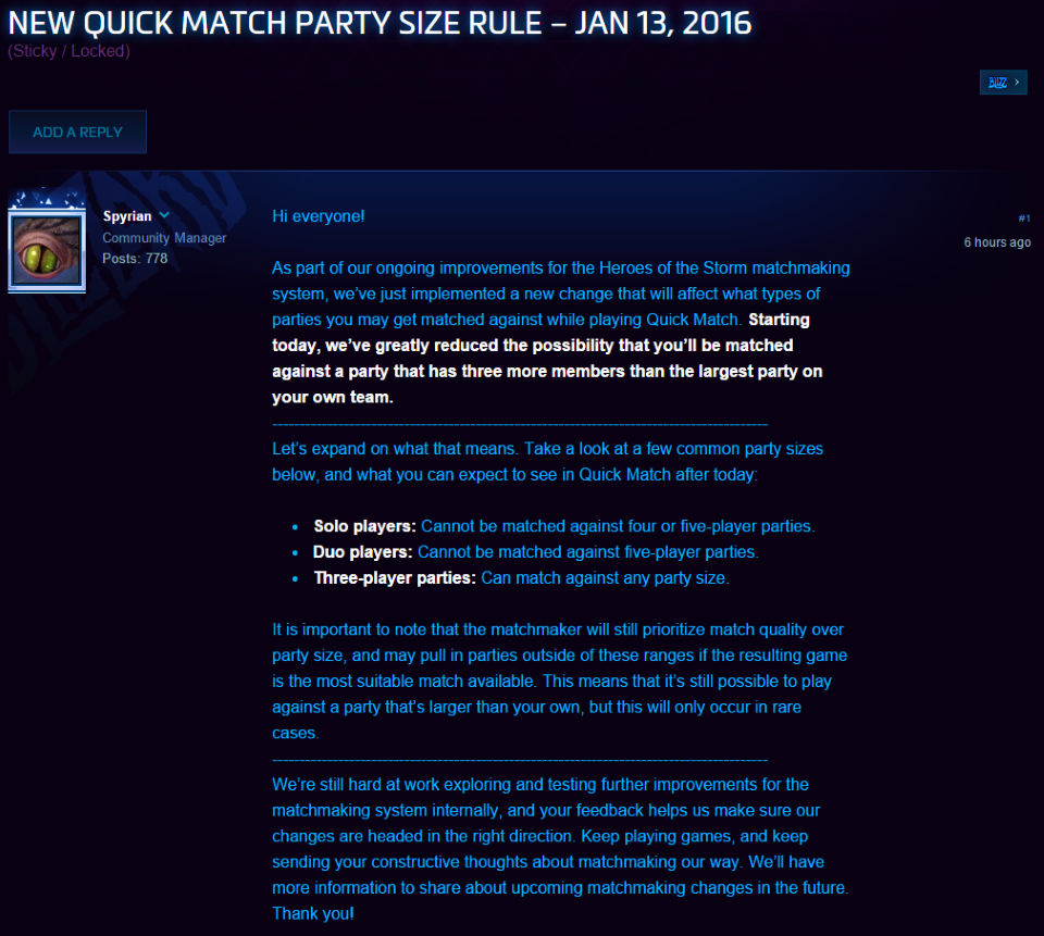 Matchmaking locked heroes of the storm