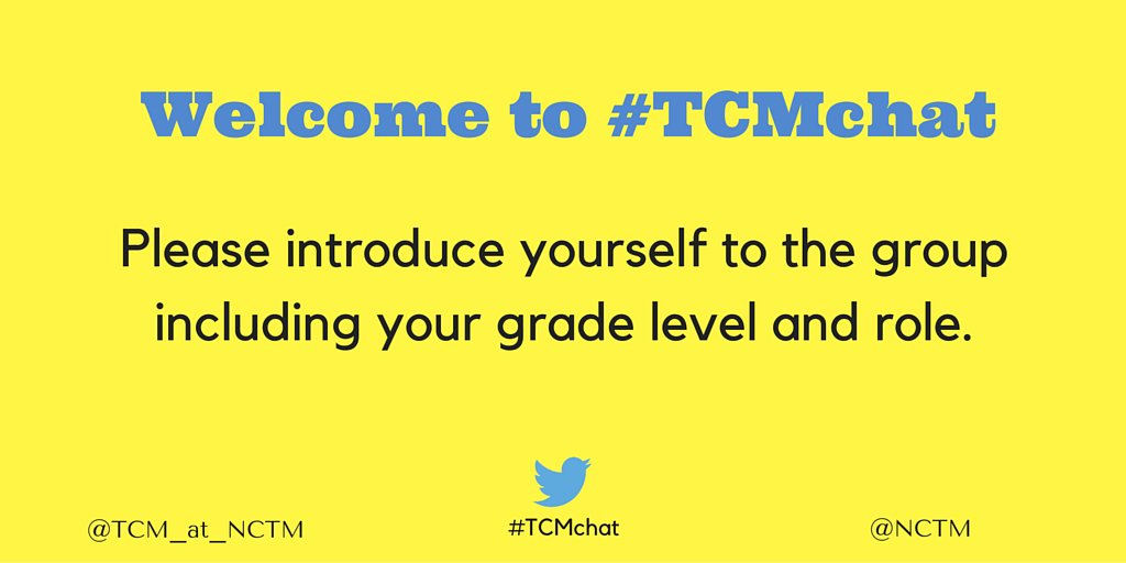 We are pleased that you are here. Let's get to know each other. #TCMchat https://t.co/v1jBwx7p8q