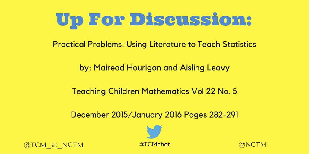 This #TCMchat will focus on https://t.co/MZ3Oylr0G5 from a recent issue of Teaching Children Mathematics https://t.co/nW8nSwpGmh