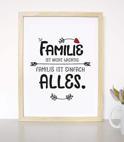 formart kunstdrucke on twitter familie ist nicht wichtig familie ist alles ist ab sofort. Black Bedroom Furniture Sets. Home Design Ideas