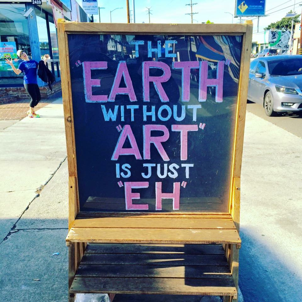 A volunteer shared this photo with us, and we heartily agree. The arts make life better! https://t.co/3opEDNH1R9