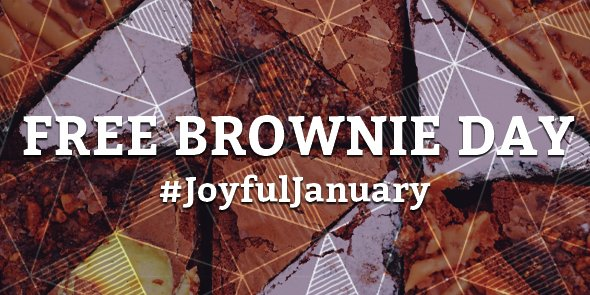 5,000 free Brownies to cheer up London. Get yours on Monday 18th January! #JoyfulJanuary https://t.co/XykR7BsMOH https://t.co/568CvhOEwS