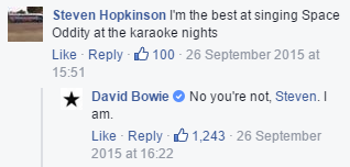 Hadn't shared this because I assumed it was fake. But, having checked Bowie's FB page, there it is. Enjoy. https://t.co/QIk4qYNjcb