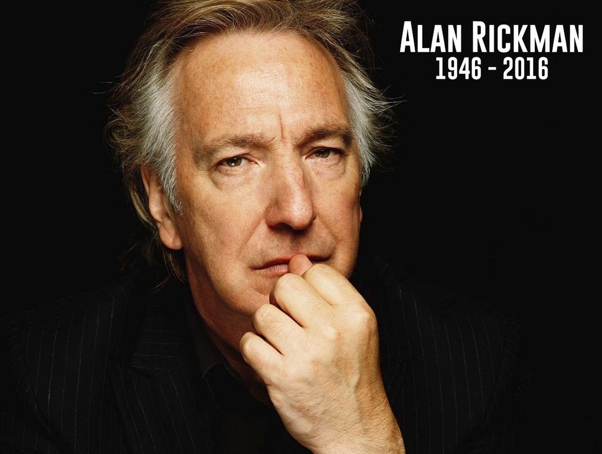 Such incredibly sad news breaking - Alan Rickman has died. He was one of the greats. Terrible news. #RIPAlanRickman https://t.co/WQX4Qi956m