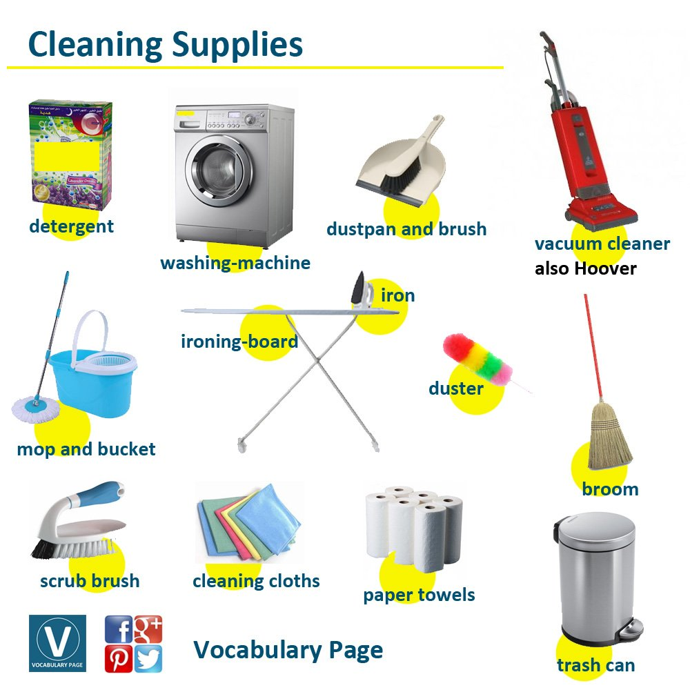 Cleaning Equipment Names List