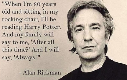 We're saddened to hear of the passing of Alan Rickman - we love this quote. https://t.co/iTxyAzhIXm