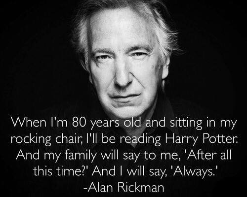 RIP Alan Rickman, the actor who played Severus Snape in the Harry Potter movies. You will always be missed, Always. https://t.co/aRLVvMTGFH