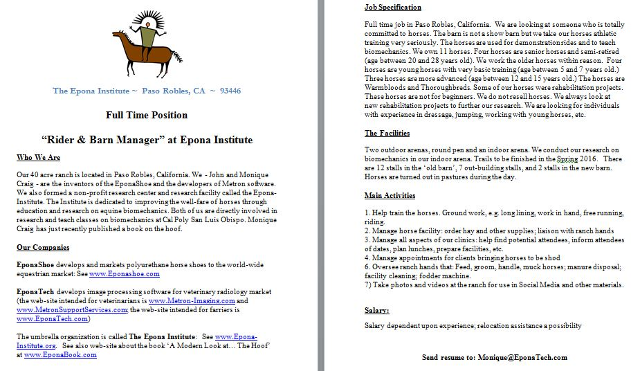 Attractive Horse Barn Manager Resume Composition - Resume Ideas ...