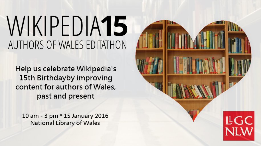 Looking forward to our #Wikipedia15 birthday event @NLWales tomorrow.  #1Lib1Ref https://t.co/7GgNIrHAms