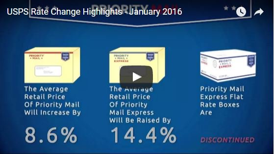 Coming January 17: New #USPS rates take effect. What's changing? Watch this video: https://t.co/4bNJySRZWb #smallbiz https://t.co/L6f86qlk4X