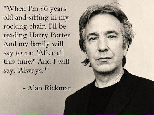 Alan Rickman morto: l'amore per la saga di Harry Potter
