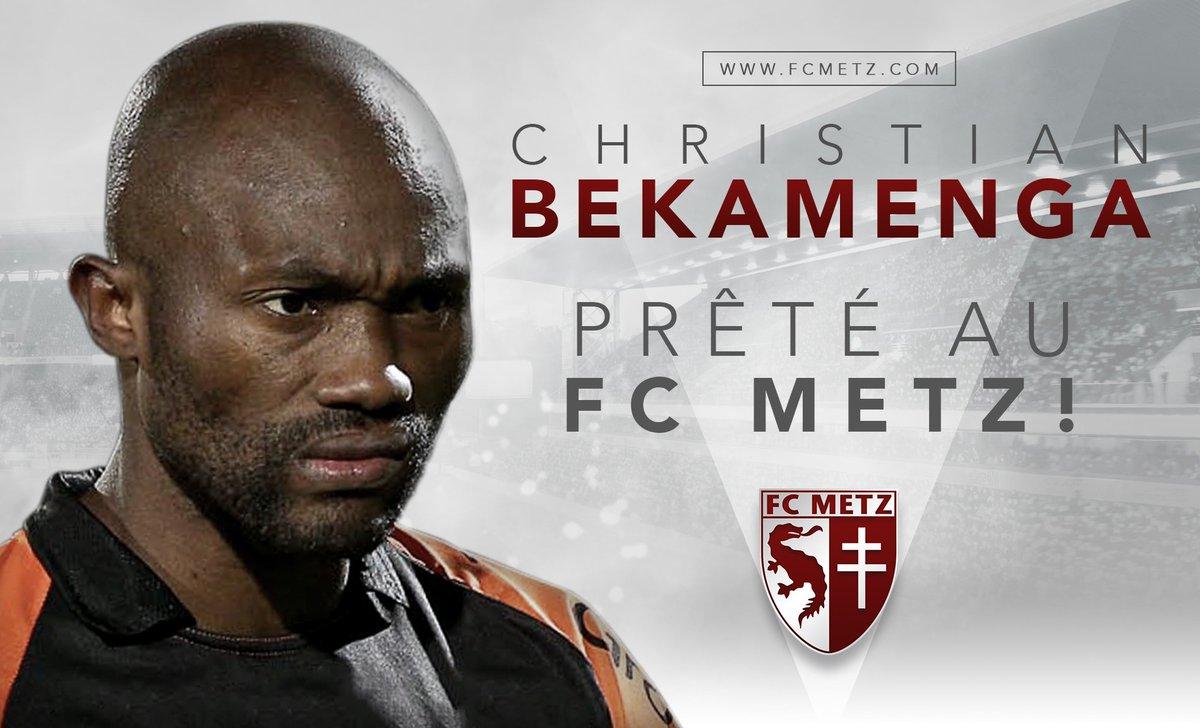 #Transfert C'est officiel, l'attaquant Christian #Bekamenga est prêté au #FCMetz jusqu'à la fin de la saison !