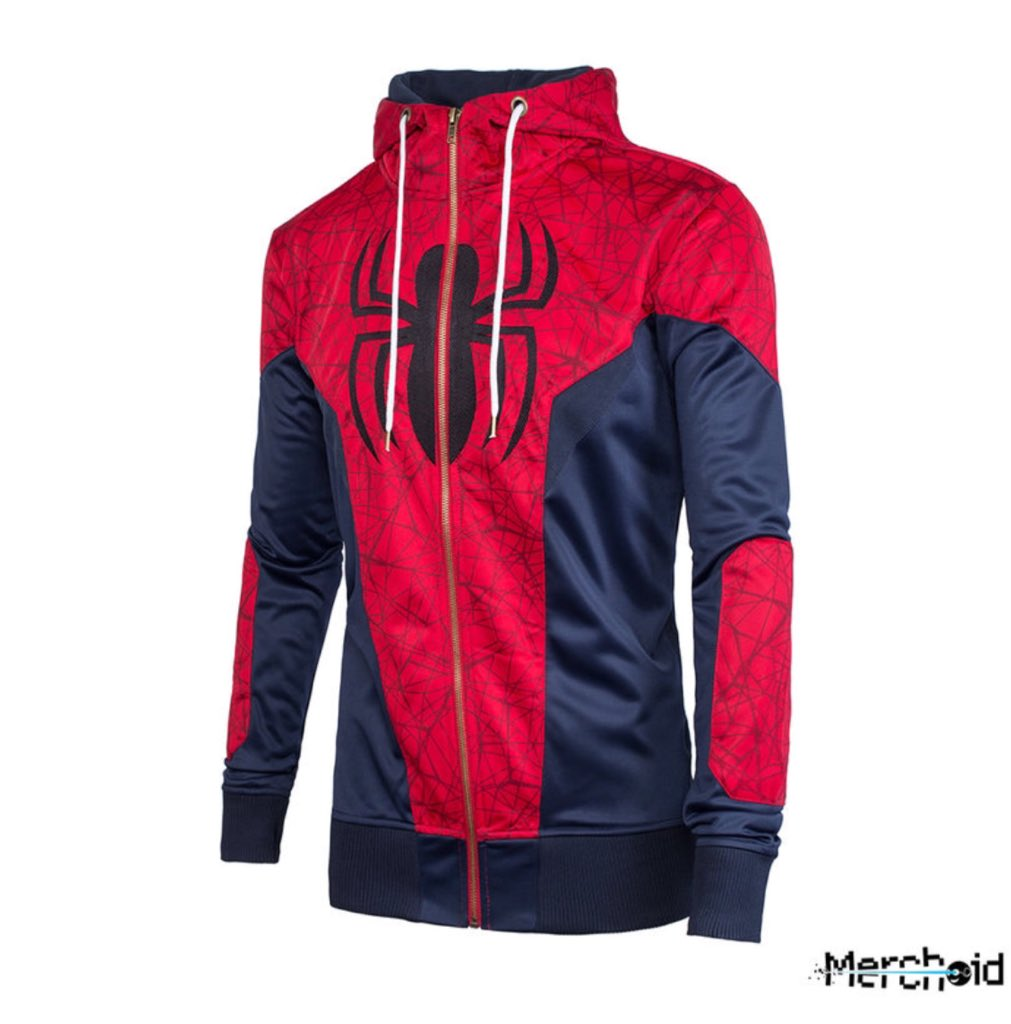 905f08977db3 Now has pictures of the Captain America  Cvivil War Spider- Man costume in  form of a hoodie began to surface online. Just check it and say it does not  look ...