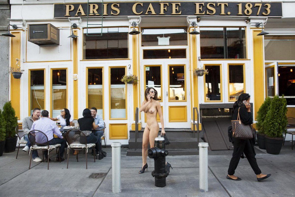 Being nude in public