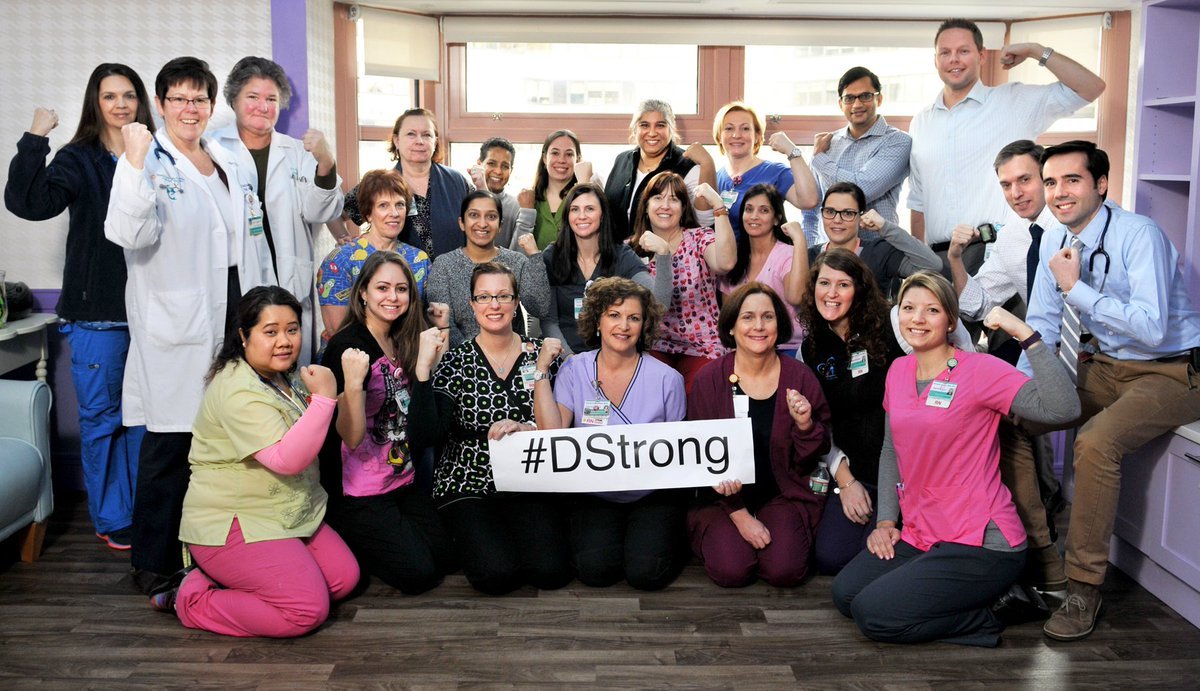Members of our Oncology staff: proud to show support for & be part of  #DStrong movement. #PrayingforDorian. https://t.co/seKtoelQIw